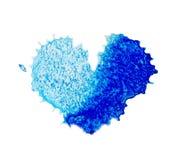 Symbole bleu de coeur d'aquarelle illustration de vecteur
