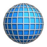 Symbole bleu de globe Photographie stock libre de droits