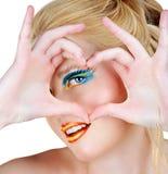symbole blond de coeur Images libres de droits
