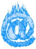 Symbole brûlant d'email À Photos stock