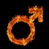 Symbole brûlant d'homme Images libres de droits