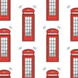 Symbole BRITANNIQUE de Londres - icônes - silhouette - pochoir - modèle rouge de cabine téléphonique d'illustration de vecteur d' illustration de vecteur