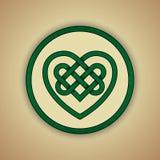 Symbole celtique de noeud de coeur de l'amour illustration libre de droits