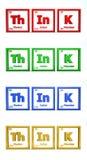 Symbole chimique - le mot pensent illustration de vecteur