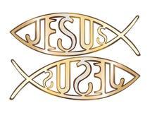 Symbole chrétien de deux poissons Image libre de droits