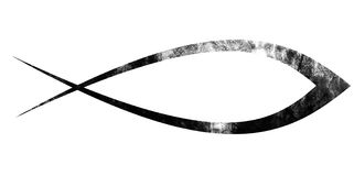 Symbole chrétien de poissons Photographie stock