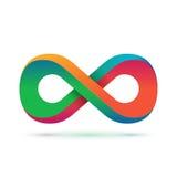 Symbole coloré d'infini Image stock