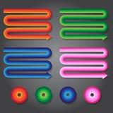 Symbole coloré de flèche, travail de vecteur Photos stock
