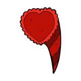 symbole comique de coeur d'amour de bande dessinée Image stock
