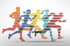 Symbole courant d'athlètes Photographie stock libre de droits