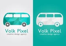 Symbole créatif d'icône de pixel de Volk Moderne plat doux Image libre de droits