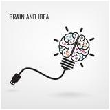 Symbole créatif de cerveau illustration stock