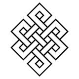 Symbole culturel de noeud sans fin de bouddhisme illustration stock
