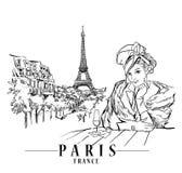 Symbole culturel de Paris illustration de vecteur