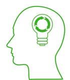 symbole d'écologie d'ampoule Photo libre de droits
