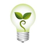 Symbole d'écologie de lumière d'ampoule Image stock