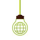 Symbole d'écologie de lumière d'ampoule Photographie stock