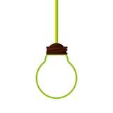 Symbole d'écologie de lumière d'ampoule Image libre de droits