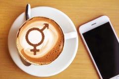 Symbole d'égalité entre les sexes photo libre de droits