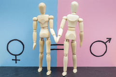 Symbole d'égalité entre les sexes Photo stock
