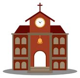 Symbole d'église pour la conception d'architecture de religion illustration de vecteur