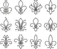 Lys de collection de fleur illustration de vecteur illustration du dessin 8172005 - Symbole fleur de lys ...