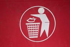 Symbole d'élimination des déchets Photographie stock libre de droits