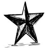 Symbole d'étoile dans le style de griffonnage illustration stock