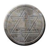 Symbole d'étoile de David dans la pierre Photo libre de droits