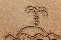 Symbole d'île de paradis Image libre de droits