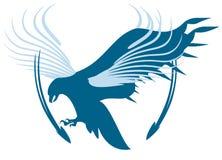 Symbole d'aigle de vecteur avec des flèches Photo stock