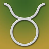 Symbole d'aluminium de Taureau Photographie stock