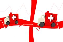 Symbole d'ambulance Photo libre de droits