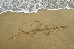 Symbole d'amour d'écriture Photo libre de droits