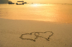 Symbole d'amour d'écriture Image stock