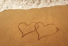 Symbole d'amour d'écriture Photographie stock