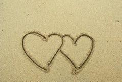Symbole d'amour d'écriture Photos libres de droits