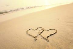 Symbole d'amour d'écriture Photos stock