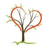 Symbole d'amour d'arbre Images libres de droits