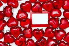 Symbole d'amour dans la perspective d'un mur Photographie stock