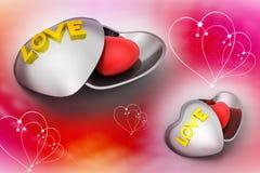 Symbole d'amour dans une boîte Image libre de droits