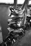 Symbole d'amour de cadenas Photographie stock
