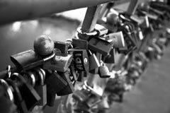 Symbole d'amour de cadenas Photographie stock libre de droits