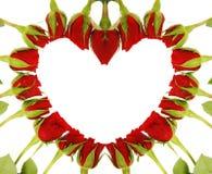 Symbole d'amour de coeur de roses Photographie stock libre de droits