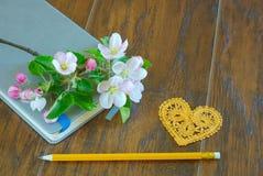 Symbole d'amour de fleur de fleur de ressort Images libres de droits