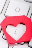 Symbole d'amour de forme de coeur Photos stock