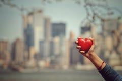 Symbole d'amour de forme de coeur Photographie stock