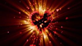 Symbole d'amour valentine animation 3D illustration libre de droits