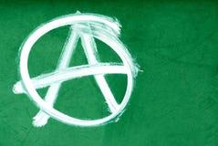 Symbole d'anarchie sur le mur Photos libres de droits