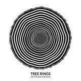 Symbole d'anneaux d'arbre et de tronc d'arbre de coupe de scie illustration libre de droits